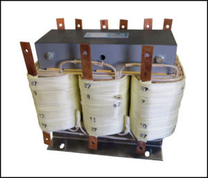 Three Phase Isolation Transformer, 3 KVA, 60 Hz, Primary: 208/260 VAC, Secondary: 87/87 VAC, P/N 19003