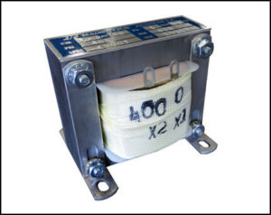Single Phase Isolation Transformer, 50 VA, 60 Hz, Primary: 460 VAC, Secondary: 400 VAC, P/N 19007