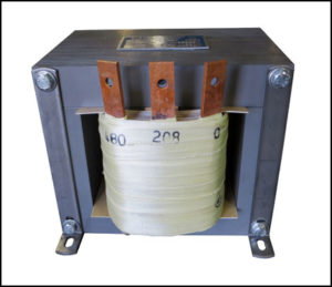 SINGLE PHASE BUCK TRANSFORMER, 3 KVA, INPUT 480 VAC, OUTPUT 208 VAC, PN 19008