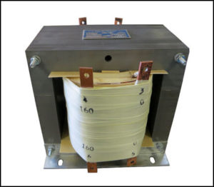 Single Phase Isolation Transformer, 7.5 KVA, 60 Hz, Primary: 480 VAC, Secondary: 160/160 VAC, P/N 19017A