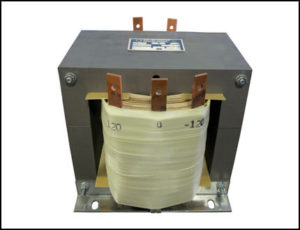 Single Phase Isolation Transformer, 7.5 KVA, 60 Hz, Primary: 208 VAC, 36 Amps Secondary: -120/0/120 VAC, 31 Amps, P/N 19036