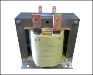 Low Frequency Transformer, 0.75 KVA, 1 PH, 10 Hz to 60 Hz, Primary: 125 VAC, Secondary: 2.8 VAC, P/N 19037