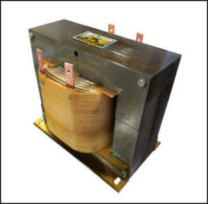 Single Phase Isolation Transformer, 3.0 KVA, 60 Hz, Primary: 400 to 1200 VAC, Secondary: 100 to 300 VAC, P/N 19044