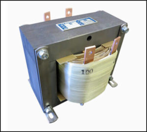 Single Phase Isolation Transformer, 1.5 KVA, 60 Hz, Primary: 240 VAC, Secondary: 100 VAC, P/N 19056