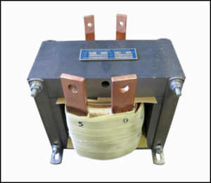 HIGH CURRENT TRANSFORMER, 1.25 KVA, Output: 5 VAC, 250 AMPS, P/N 19059