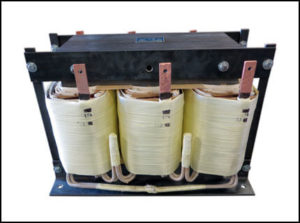 Three Phase Isolation Transformer 58 KVA, 50 Hz, Primary: 480 VAC, Secondary: 174 VAC, P/N 19060A