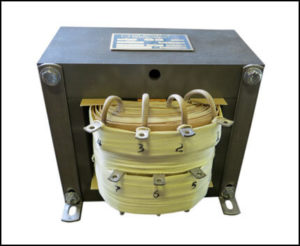 Control Transformer, 1.2 KVA, 1 PH, Primary: 208/240/380/416/480/600 VAC, Secondary: 120 VAC, P/N 19064