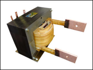 HIGH CURRENT TRANSFORMER, 12.6 KVA, Output: 21 VAC, 600 AMPS, P/N 19066