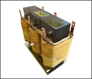 THREE PHASE BUCK TRANSFORMER, 72 KVA, INPUT 480 VAC, OUTPUT 460 VAC, P/N 19068