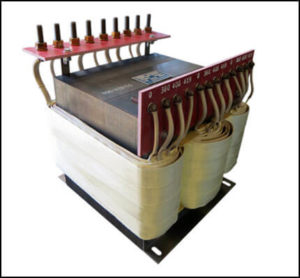 THREE PHASE MULTI TAP TRANSFORMER, 30 KVA, P/N 19073