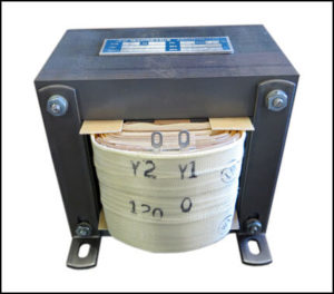 Single Phase Isolation Transformer, 0.5 KVA, 60 Hz, Primary: 120 VAC, Secondary: 120 VAC, P/N 19076
