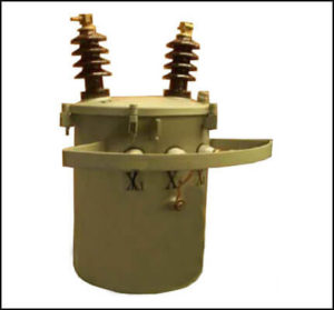 Pole Mount Oil Filled Transformer, 25 KVA, Primary: 7620 VAC, Secondary: 120/240 VAC, P/N 6279L