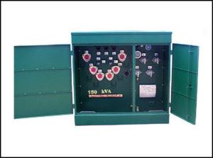 Oil Filled Transformer, 150 KVA, Primary: 13200 / 23000 / 34500 VAC, Delta Secondary: 220 / 127 VAC, Wye, P/N 6282L