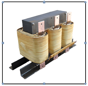 THREE PHASE BUCK TRANSFORMER, 381 KVA, INPUT 470 VAC, OUTPUT 440 VAC, P/N 18752N