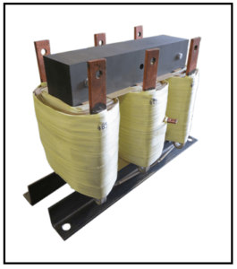 THREE PHASE BOOST TRANSFORMER, 125 KVA, INPUT 480 VAC, INPUT 485 VAC, P/N 19110N