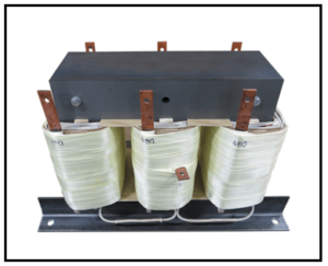 THREE PHASE BUCK TRANSFORMER, 25 KVA, INPUT 480 VAC, OUTPUT 230 VAC, P/N 19181N