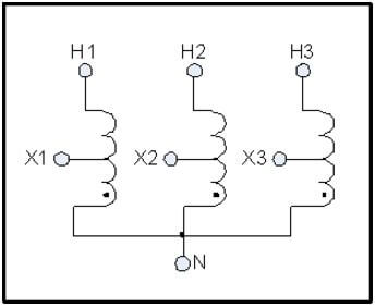 buck boost transformer l c magnetics schematic of a three phase buck boost transformer