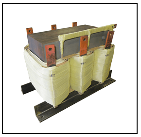 THREE PHASE BOOST TRANSFORMER, 125 KVA, INPUT 400 VAC, OUTPUT 480 VAC, P/N 19252N