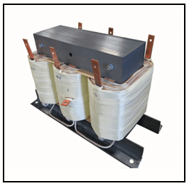 THREE PHASE BOOST TRANSFORMER, 55 KVA, INPUT 480 VAC, OUTPUT 575 VAC, P/N 19179N
