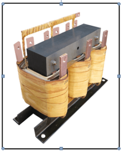 THREE PHASE BOOST TRANSFORMER, 56 KVA, INPUT 208 VAC, OUTPUT 220/230 VAC, P/N 18858N