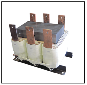 THREE PHASE BUCK TRANSFORMER, 316 KVA, INPUT 480 VAC, OUTPUT 455 VAC, P/N 18837N