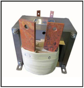 HIGH CURRENT TRANSFORMER, 1.25 KVA, Output: 2.5 VAC, 500 AMPS, P/N 19164