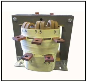 Isolation Transformer, 1.26 KVA, 1 PH, 60 Hz, Primary: 120 VAC, Secondary: 3.5/4.4/5.3/6.2 VAC, P/N 19160