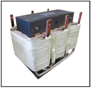 Isolation Transformer, 15 KVA, 3 PH, 60 Hz, Primary: 460 VAC L-L, Secondary: 42.5 VAC L-L, P/N 19090