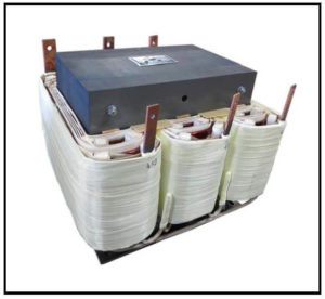 Isolation Transformer, 30 KVA, 3 PH, 60 Hz, Primary: 460 VAC L-L, Secondary: 86 VAC L-L, P/N 19091