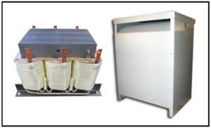 Isolation Transformer, 25 KVA, 3 PH, 60 Hz, Primary: 440 VAC L-L, Secondary: 210 VAC L-L, P/N 19112N