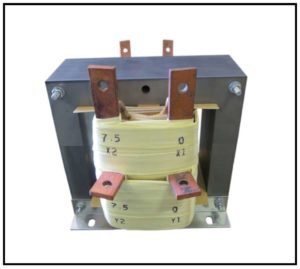 DUAL SECONDARY TRANSFORMER, 3 KVA, 1 PH, 60 HZ, P/N 19125