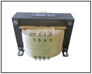 Isolation Transformer, 0.8 KVA, 1 PH, 60 Hz, Primary: 208 VAC, Secondary: 115/220/28/28 VAC, P/N 19126