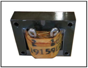 400 Hz Gapped Inductor, 0.3 mH, 33 Amps, 400 Hz, P/N 19159L