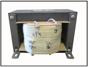Isolation Transformer, 1 KVA, 1 PH, 50 Hz, Primary: 415 VAC, Secondary: 220 VAC, P/N 19162