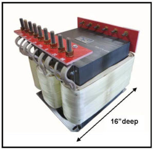 HEATING ELEMENT TRANSFORMER, 38.6 KVA, 3 PH, 50 Hz, P/N 19168