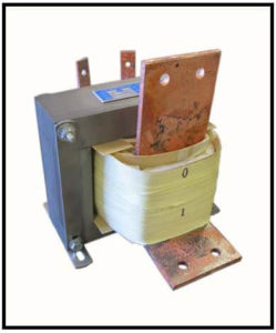 HIGH CURRENT TRANSFORMER, 1 KVA, Output: 1 VAC, 1000 AMPS, P/N 19174