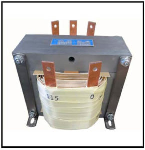 Control Transformer, 2 KVA, 1 PH, 60 Hz, Primary: 230/240 VAC, Secondary: 115 VAC, P/N 19177