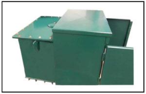 Pad Mounted Three Phase Oil Filled Transformer, 500 KVA, Primary: 15000 VAC, Delta, Secondary: 480 VAC L-L, 277 VAC L-N, P/N 7014LA