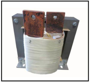 HIGH CURRENT TRANSFORMER, 1 KVA, Output: 2 VAC, 500 AMPS, P/N 19161