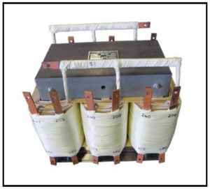 THREE PHASE MULTI TAP TRANSFORMER, 25 KVA, P/N 19144