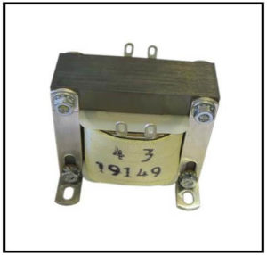 Audio Transformer, 20 Hz to 30 kHZ, 1 PH, Primary: 13.85 VAC, Secondary: 160 VAC, P/N 19149