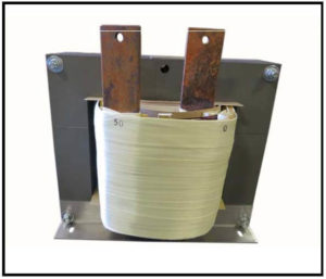 HIGH CURRENT TRANSFORMER, 25 KVA, Output: 50 VAC, 500 AMPS, P/N 19157