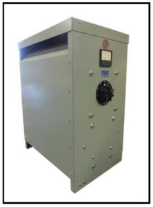 HIGH CURRENT TRANSFORMER WITH A VARIAC,12.5 KVA, output: 0 to 25 VAC, 500 Amps max P/N 19176V