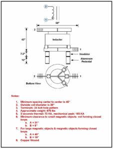 Air Core Reactor, 4000 Amps Continuous, 10.6, P/N 6766L