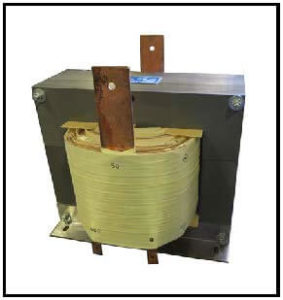 SINGLE PHASE HIGH CURRENT TRANSFORMER, 30 KVA, OUTPUT 50 VAC, 600 AMPS, P/N 19196