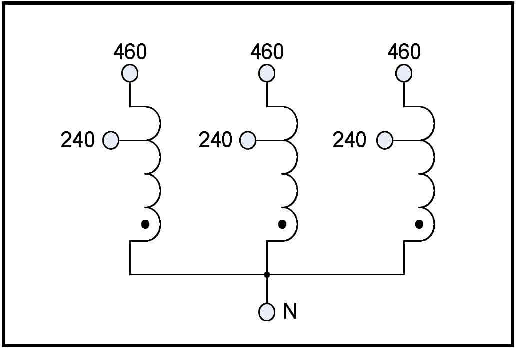 boost transformer, 100 kva, input 240 vac, output 460 vac ... 240 to 24v transformer wiring diagram #15