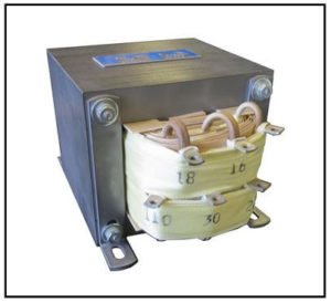 Isolation Transformer, 400 VA, 1 PH, 60 Hz, Primary: 220 VAC, Secondary: 30/100 VAC, P/N 19199