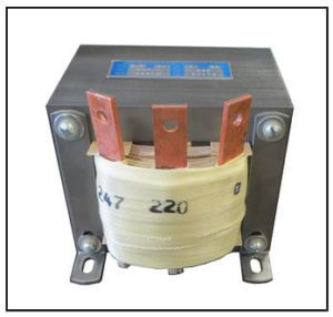 SINGLE PHASE BUCK TRANSFORMER, 4.8 KVA, INPUT 247 VAC, OUTPUT 220 VAC, P/N 19205