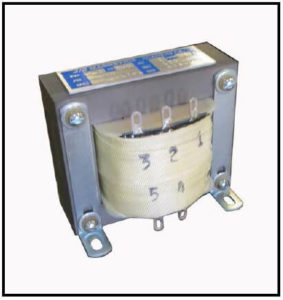 SINGLE PHASE BUCK TRANSFORMER, 0.2 KVA, INPUT 220/230/240 VAC, OUTPUT 120 VAC P/N 19217-1