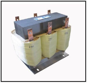 THREE PHASE BOOST TRANSFORMER, 24 KVA, INPUT 200 VAC, OUTPUT 230 VAC, P/N 19222A